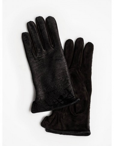 Astrakhan leather hand gloves