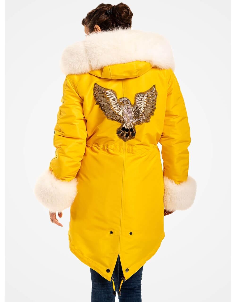 Womens Yellow Parka Coat